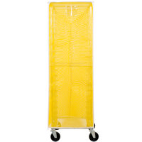 Curtron SUPRO-BM-Y Yellow Supro Breathable Mesh Bun / Sheet Pan Rack Cover - 23 inch x 28 inch x 62 inch
