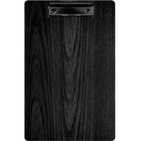 Menu Solutions WDCLIP-D Black 8 1/2 inch x 14 inch Customizable Wood Menu Clip Board