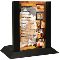 Menu Solutions WDAFR-B Black Wood Menu Holder / Tent with 5 inch x 7 inch Insert Slot