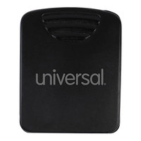 Universal UNV21270 25-Sheet Capacity Black Fabric Panel Wall Clip   - 20/Pack