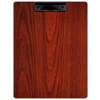 Menu Solutions WDCLIP-C Mahogany 8 1/2 inch x 11 inch Customizable Wood Menu Clip Board