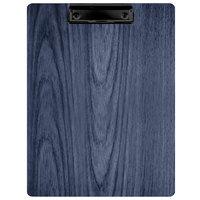 Menu Solutions WDCLIP-C Denim 8 1/2 inch x 11 inch Customizable Wood Menu Clip Board
