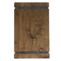 Menu Solutions WDRBB-D Walnut 8 1/2 inch x 14 inch Customizable Wood Menu Board with Rubber Band Straps