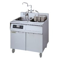 Frymaster 8SMS Pasta Magic Electric Pasta Cooker with Automatic Timed Basket Lifter and Separate Rinse Tank - 240V, 1 Phase, 8 kW