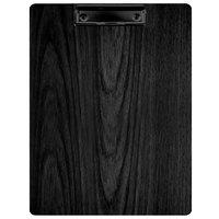 Menu Solutions WDCLIP-C Black 8 1/2 inch x 11 inch Customizable Wood Menu Clip Board