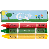Choice 3 Pack Triangular Kids' Restaurant Crayons in Print Box - 500/Case