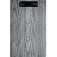 Menu Solutions WDCLIP-D Ash 8 1/2 inch x 14 inch Customizable Wood Menu Clip Board
