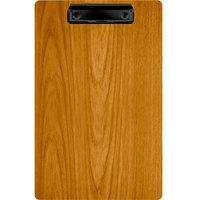 Menu Solutions WDCLIP-D Country Oak 8 1/2 inch x 14 inch Customizable Wood Menu Clip Board