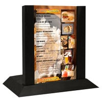 Menu Solutions WDAFR-A Black Wood Menu Holder / Tent with 4 inch x 6 inch Insert Slot
