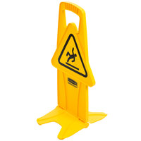 Rubbermaid FG9S0925YEL 26 inch Yellow Wet Floor Stable Safety Sign