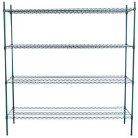 Regency 21 inch x 72 inch NSF Green Epoxy Shelf Kit with 74 inch Posts