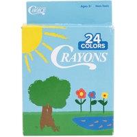 Choice 24 Assorted Colors Bulk School Crayons Pack - 50/Case