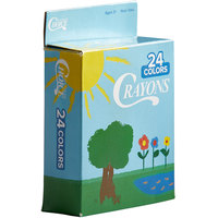Choice 24 Assorted Colors Bulk School Crayons Pack in Print Box - 50/Case