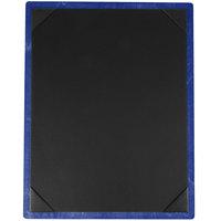 Menu Solutions WDPIX-C True Blue 8 1/2 inch x 11 inch Customizable Wood Menu Board with Picture Corners