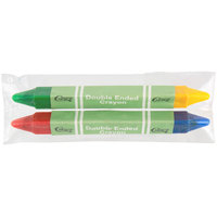 Choice 2 Pack Double Ended Triangular Kids' Restaurant Crayons - 500/Case