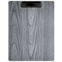 Menu Solutions WDCLIP-C Ash 8 1/2 inch x 11 inch Customizable Wood Menu Clip Board
