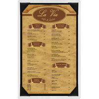 Menu Solutions WDPIX-D White Wash 8 1/2 inch x 14 inch Customizable Wood Menu Board with Picture Corners