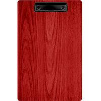 Menu Solutions WDCLIP-D Berry 8 1/2 inch x 14 inch Customizable Wood Menu Clip Board