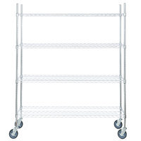 Regency 14 inch x 60 inch NSF Chrome Shelf Kit with 64 inch Posts and Casters