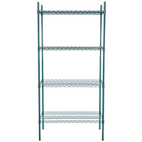 Regency 21 inch x 36 inch NSF Green Epoxy Shelf Kit with 74 inch Posts