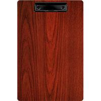 Menu Solutions WDCLIP-D Mahogany 8 1/2 inch x 14 inch Customizable Wood Menu Clip Board