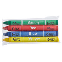 Choice 4 Pack Kids' Restaurant Crayons in Cello Wrap - 1000/Case