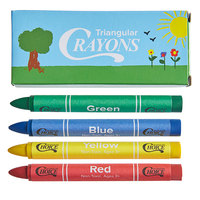Choice 4 Pack Triangular Kids' Restaurant Crayons in Print Box - 100/Pack