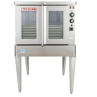 Blodgett SHO-100-E Single Deck Full Size Electric Convection Oven with Legs - 220/240V, 1 Phase, 11 kW