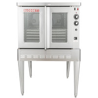 Blodgett SHO-100-G Natural Gas Single Deck Full Size Convection Oven - 50,000 BTU