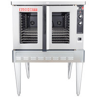 Blodgett ZEPHAIRE-100-G Single Deck Natural Gas Full Size Standard Depth Convection Oven with Draft Diverter - 50,000 BTU
