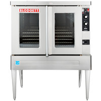 Blodgett BDO-100-G-ES Liquid Propane Single Deck Full Size Gas Convection Oven with Legs - 45,000 BTU