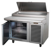 Traulsen TB046SL2S 46 inch 1 Door Refrigerated Pizza Prep Table with 2 Pan Rails