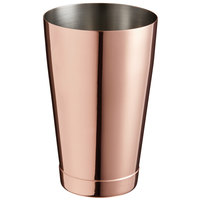 Barfly M37007CP 18 oz. Copper-Plated Half Size Cocktail Shaker Tin