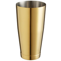 Barfly M37008GD 28 oz. Gold-Plated Full Size Cocktail Shaker Tin