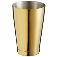 Barfly M37007GD 18 oz. Gold-Plated Half Size Cocktail Shaker Tin