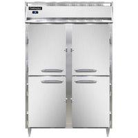 Continental DL2RS-SA-HD 52 inch Shallow Depth Solid Half Door Reach-In Refrigerator