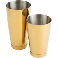 Mercer Culinary M37009GD Barfly 28 oz. & 18 oz. 2-Piece Gold Plated Shaker Tin Set