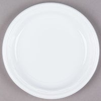 Dart 7PWF 7 inch White Famous Service Impact Plastic Plate - 125/Pack
