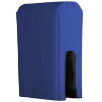 Snap Drape BDCWYN50ROYAL Wyndham Royal Blue 5 Gallon Polyester Beverage Dispenser Cover