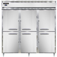 Continental DL3R-SS-PT-HD 78 inch Solid Half Door Pass-Through Refrigerator