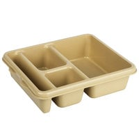 Cambro 9114CP161 9 inch x 11 inch Tan 4 Compartment Meal Delivery Tray - 24/Case