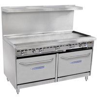 Bakers Pride Restaurant Series 60-BP-0B-G60-S26 Natural Gas Range with Two Standard 26 inch Ovens and 60 inch Griddle