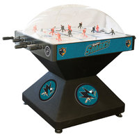 Holland Bar Stool DHDSJShar 52 inch San Jose Sharks Logo Deluxe Dome Hockey Table