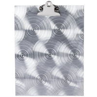 Menu Solutions MTCL-811 Alumitique Aluminum Menu Tent with Clip - Swirl Finish - 8 1/2 inch x 11 inch