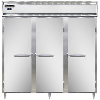 Continental DL3R-SS-PT 78 inch Solid Door Pass-Through Refrigerator