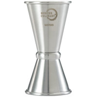 Mercer Culinary M37000 Barfly .5 oz. & .75 oz. Stainless Steel Japanese Style Jigger