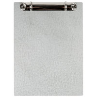 Menu Solutions AT1102RB Alumitique 5 inch x 7 inch Two-Ring Aluminum Menu Board with Brushed Finish and 1/2 inch Rings