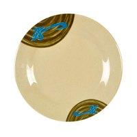 Wei 6 7/8 inch Round Melamine Plate - 12/Pack