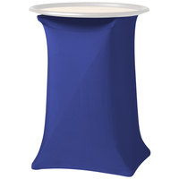 Snap Drape CCTRAY30ROYAL Contour Cover 19 inch x 17 inch x 30 inch Royal Blue Spandex Tray Stand Cover