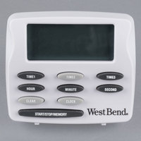 West Bend 40053 Digital 3 Channel Kitchen Timer with Memory and Clock